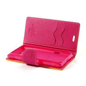 Mr. Fancy peňaženkové puzdro pre Sony Xperia L - žlté - 5