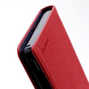 Mr. Goos peňaženkové puzdro na Sony Xperia Z - červené - 5