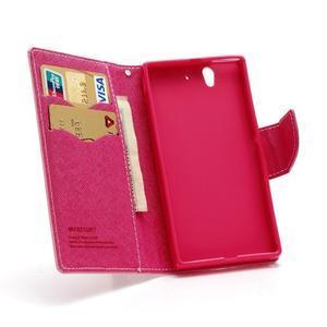 Mr. Goos peňaženkové puzdro na Sony Xperia Z - růžové - 5