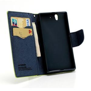 Mr. Goos peňaženkové puzdro na Sony Xperia Z - zelené - 5