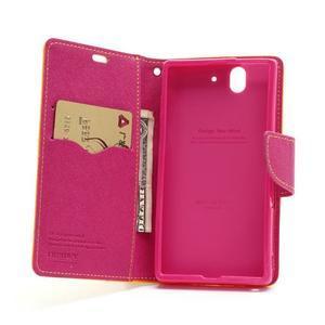 Mr. Goos peňaženkové puzdro pre Sony Xperia Z - žlté - 5