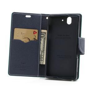 Mr. Goos peňaženkové puzdro na Sony Xperia Z - azurové - 5