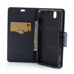 Mr. Goos peňaženkové puzdro pre Sony Xperia Z - fialové - 5