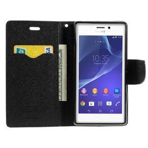 Mr. Goos peňaženkové puzdro pre Sony Xperia M2 - čierné - 5