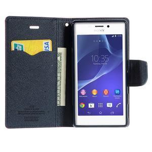 Mr. Goos peňaženkové puzdro na Sony Xperia M2 - rose - 5