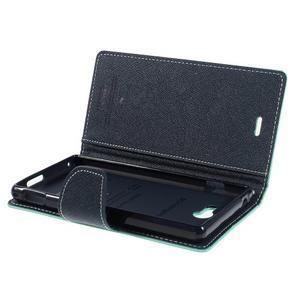 Mr. Goos peňaženkové puzdro na Sony Xperia M2 - azurové - 5