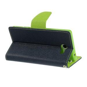Mr. Goos peňaženkové puzdro pre Sony Xperia M2 - tmavo modré - 5