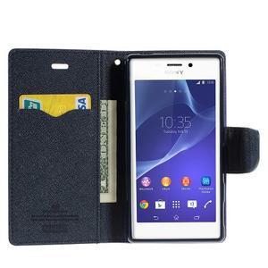 Mr. Goos peňaženkové puzdro na Sony Xperia M2 - fialové - 5