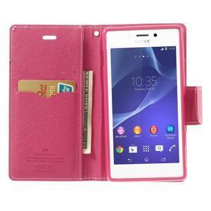 Mr. Goos peňaženkové puzdro na Sony Xperia M2 - růžové - 5