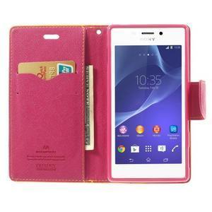 Mr. Goos peňaženkové puzdro pre Sony Xperia M2 - žlté - 5