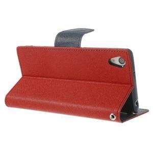 Fancy Peňaženkové puzdro pre Sony Xperia Z2 - červené - 5
