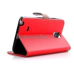 Peňaženkové puzdro s pútkom na Samsung Galaxy Note 4 - červené - 5