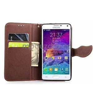 Peňaženkové puzdro s pútkom na Samsung Galaxy Note 4 - rose - 5