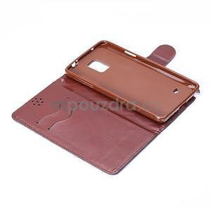Elegantné peňaženkové puzdro pre Samsung Galaxy Note 4 - tmavomodre - 5