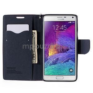 Stylové peňaženkové puzdro na Samsnug Galaxy Note 4 -  rose - 5