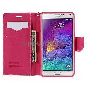 Stylové peňaženkové puzdro na Samsnug Galaxy Note 4 -  ružové - 5
