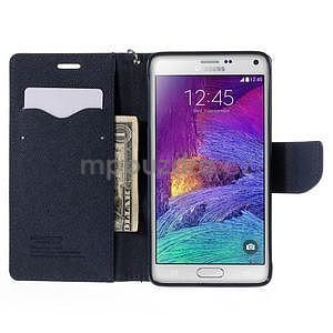 Stylové peňaženkové puzdro na Samsnug Galaxy Note 4 -  zelené - 5