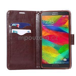 Jeans peňaženkové puzdro pre Samsung Galaxy Note 4 - modré - 5
