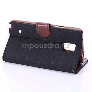 Elegantné peňaženkové puzdro pre Samsung Galaxy Note 4 - čierne - 5