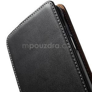 Flipové puzdro pre Samsugn Galaxy Note 4 - čierne - 5