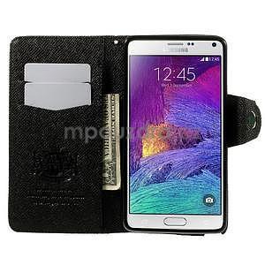Zapínací peneženkové poudzro Samsung Galaxy Note 4 - čierne - 5