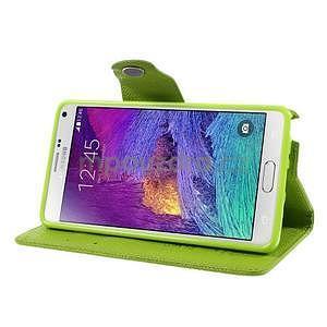 Zapínací peneženkové poudzro Samsung Galaxy Note 4 - zelené - 5