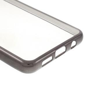 Rich gélový obal s šedým obvodem pre Samsung Galaxy A3 (2016) - 5
