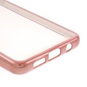 Rich gélový obal s ružovozlatým obvodem pre Samsung Galaxy A3 (2016) - 5