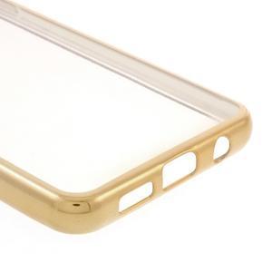 Rich gelový obal se zlatým obvodem na Samsung Galaxy A3 (2016) - 5