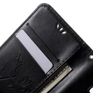 Butterfly PU kožené puzdro pre Samsung Galaxy Core Prime - čierne - 5