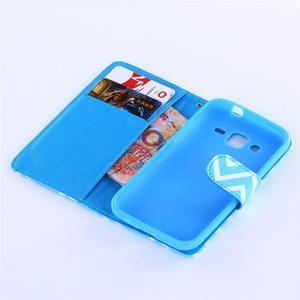 Standy peňaženkové puzdro pre Samsung Galaxy Core Prime - modrý vzor - 5