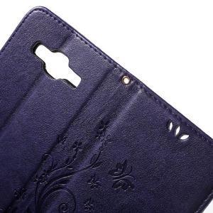 Butterfly PU kožené pouzdro na Samsung Galaxy Core Prime - fialové - 5