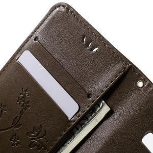 Butterfly PU kožené puzdro pre Samsung Galaxy Core Prime - hnedé - 5