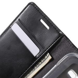 Moon PU kožené puzdro pre mobil Samsung Galaxy Core Prime - čierne - 5