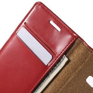 Moon PU kožené pouzdro na mobil Samsung Galaxy Core Prime - červené - 5