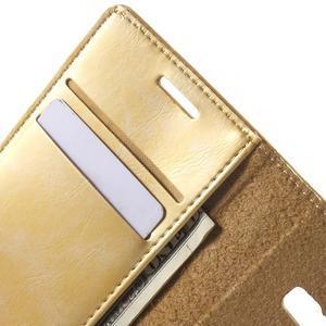Moon PU kožené puzdro pre mobil Samsung Galaxy Core Prime - zlaté - 5