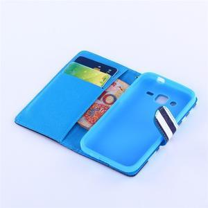 Standy peněženkové pouzdro na Samsung Galaxy Core Prime - mašlička - 5
