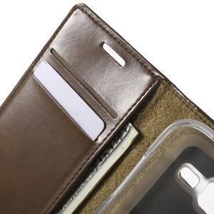 Moon PU kožené pouzdro na mobil Samsung Galaxy Core Prime - hnědé - 5
