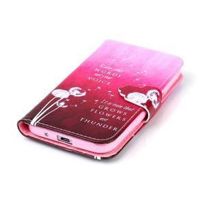 Emotive peňaženkové puzdro pre Samsung Galaxy Core Prime - púpavy - 5