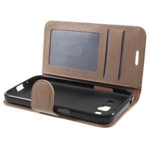 Clothy peňaženkové puzdro pre Samsung Galaxy Core Prime - champagne - 5