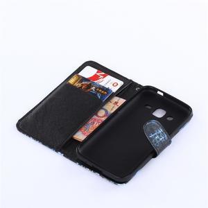 Standy peňaženkové puzdro pre Samsung Galaxy Core Prime - žirafí mafie - 5