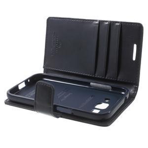 Moonleather PU kožené pouzdro na Samsung Galaxy Core Prime - tmavěmodré - 5