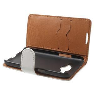 Horse PU kožené puzdro pre mobil Samsung Galaxy Core Prime - biele - 5