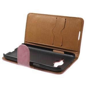 Horse PU kožené puzdro pre mobil Samsung Galaxy Core Prime - ružové - 5