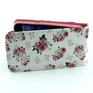 Flipové puzdro pre mobil Samsung Galaxy Core Prime - kvety - 5