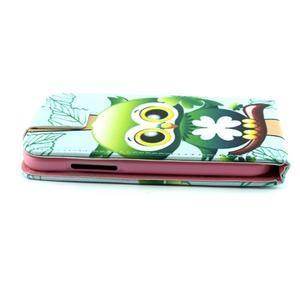 Flipové puzdro pre mobil Samsung Galaxy Core Prime - sovička - 5