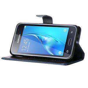 Magicfly PU kožené puzdro pre mobil Samsung Galaxy J1 (2016) - tmavomodré - 5