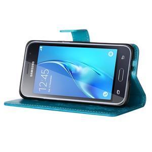 Magicfly PU kožené pouzdro na mobil Samsung Galaxy J1 (2016) - modré - 5