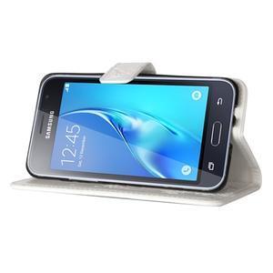 Magicfly PU kožené puzdro pre mobil Samsung Galaxy J1 (2016) - biele - 5