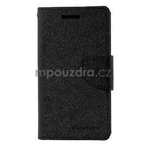 Čierné kožené puzdro pre Samsung Galaxy J1 - 5